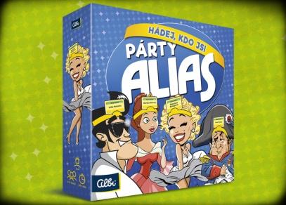 Párty Alias - Hádej, kdo jsi - uhodněte, kdo jste - párty hra od Albi