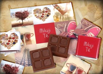 Dárkové čokoládky vyrobené z výtečné belgické čokolády