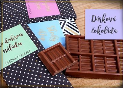 Kvalitní mléčná čokoláda vyrobená v České republice