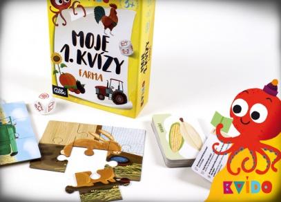 Kvído - Moje 1. kvízy - chytré hry pro malé objevitele od Albi