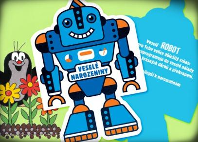Motiv robota se hodí k dárku pro každého kluka