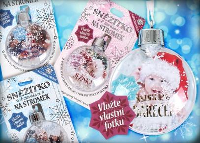 Sněžítka s fotkou od ALBI - k zavěšení na Váš vánoční stromeček