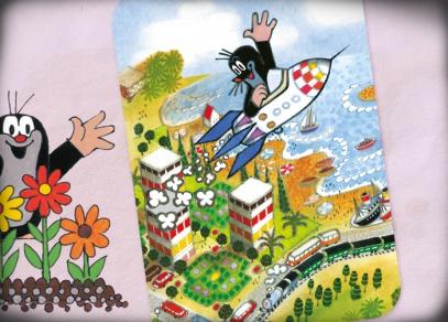 Letí k Vám Krteček s milým vzkazem - přání a pohlednice od ALBI