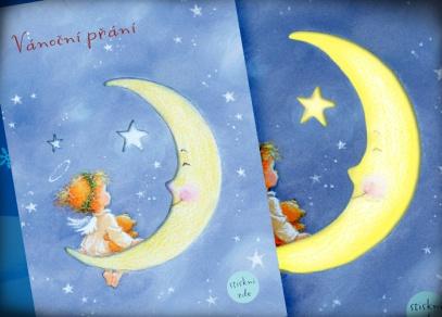 Milé kreslené přání se svítícím efektem