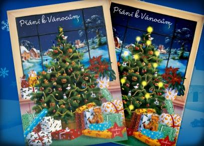 Svítící vánoční přání od ALBI