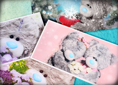 Roztomilý medvídek Me to You s úžasným 3D efektem i na obálkách s kartičkou