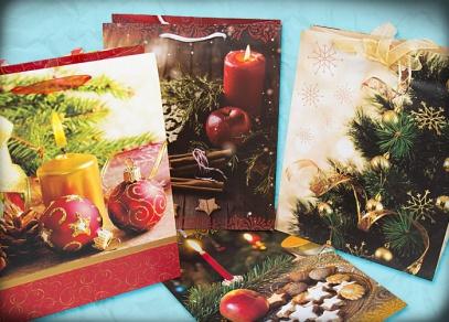 Vánoční nabídka klasických papírových tašek od ALBI