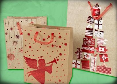 Vánoční motivy na přírodních taškách od ALBI