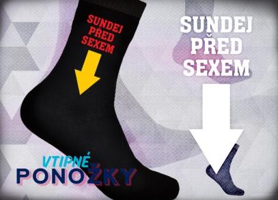 Bavlněné ponožky s humorným doporučením
