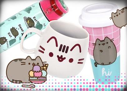 Dopřejte si svůj oblíbený nápoj v hrnečcích a lahvích s motivy kočičky Pusheen