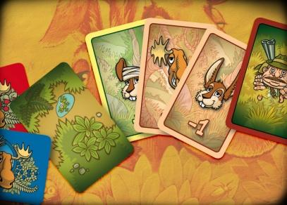 Herní karty párty hry Ušáci a paroháči