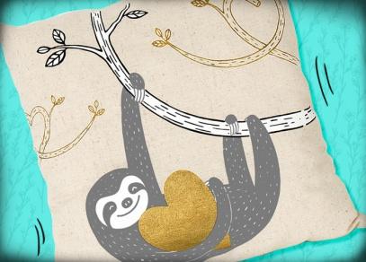 Láskyplný motiv s lenochodem