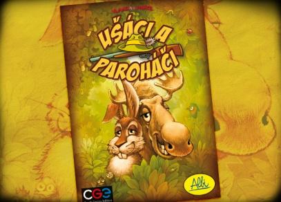 Titulní stránka párty hry Ušáci a paroháči