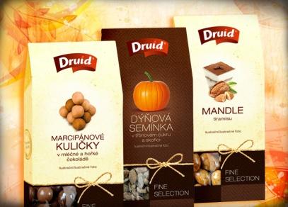 Kvalitní suché plody pod značkou DRUID