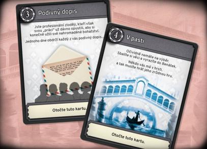 Únikovka - Loupež v Benátkách - karetní hra od Albi