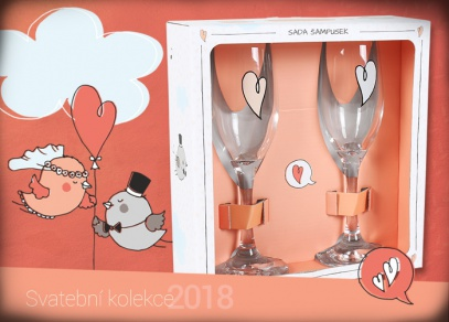 Svatební set skleniček na šampaňské - pro pořádný přípitek