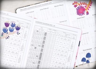 Přehledný kalendář a plánovací kalendář na rok 2019