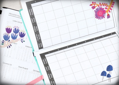 Přehledný kalendář a školní rozvrh hodin