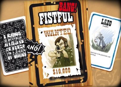 Součástí rozšíření Fistful je krom tří speciálních postav i dvojice karet z rozšíření High Noon