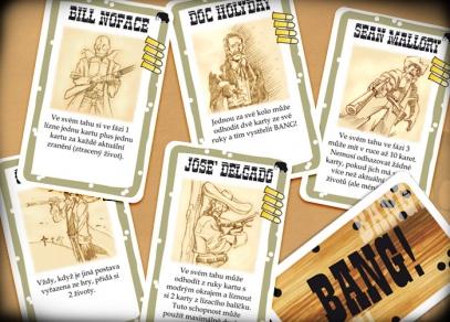 Nové karty postav z rozšíření Bang! Město duchů