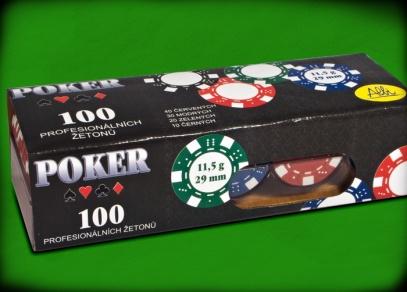 Doplňková sada s žetony na poker - krabice