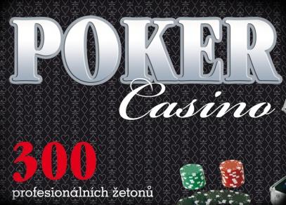 Hliníkový kufřík s pokerovou sadou, která obsahuje mj. 300 kvalitních žetonů a 2 balíčky plastových karet - Poker Casino