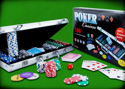 Kompletní balení středně velké pokerové sady Poker Casino