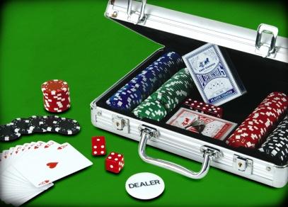 Kompletní balení Pokeru deluxe v hliníkovém kufříku