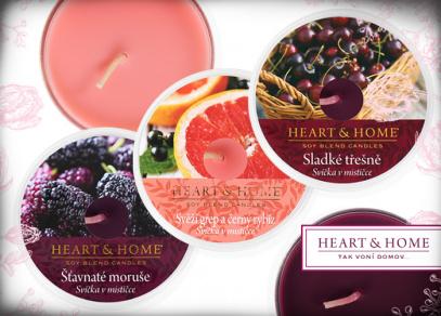 Svěží ovocné vůně Heart and Home