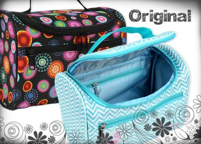 Prostorný a pevný kufřík výborně poslouží na dovolené