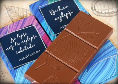 Vynikající mléčná belgická čokoláda