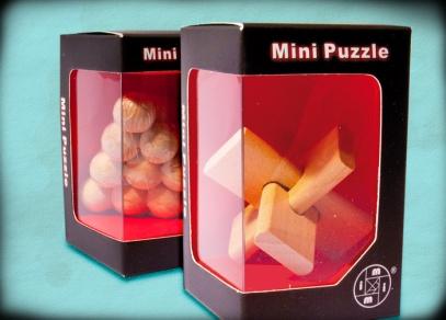 Dřevěné 3D puzzle v papírových krabičkách