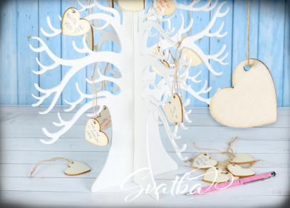 Strom na svatební přání od svatebčanů