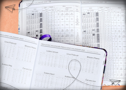 Plánovací a přehledný měsíční kalendář