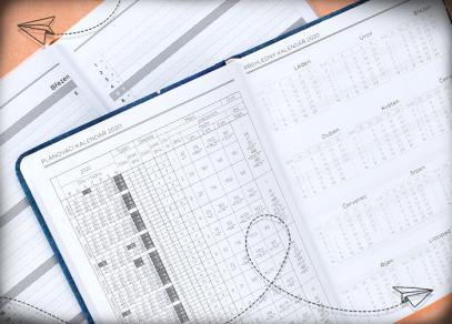 Přehledný kalendář a plánovací kalendář na rok 2020