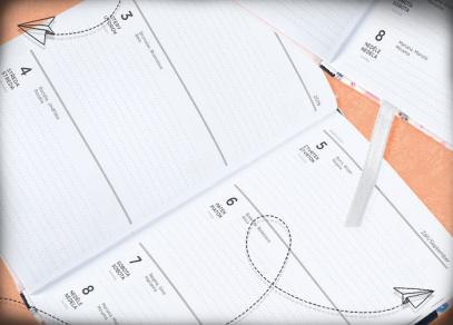 Přehledné týdenní kalendárium na vaše zápisky