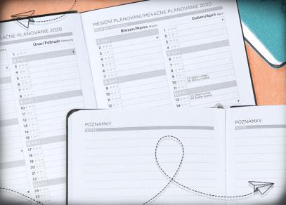 Měsíční plánování a listy pro poznámky