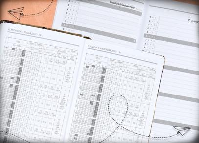 Plánovací kalendář a měsíční plánování
