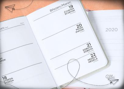 Týdenní plánování v minidiářích od ALBI