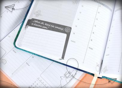 Týdenní diáře s motivačním kalendáriem