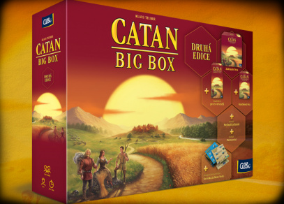 Catan Big Box - druhá edice - CATAN Big box - legendární hra od Albi