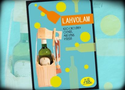 Lahvolam - hlavolam ze dřeva, který uzavře každou láhev od vína