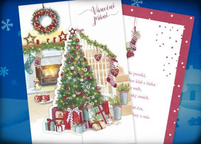 Krásný vánoční čas na přáních s výsekem