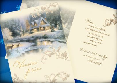 Romantické vánoční přání s textem