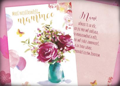 Udělejte radost přáním plným květin...