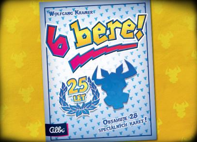 6 bere! 25 let - karetní hra od Albi