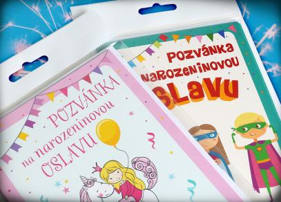 Balíček obsahuje 5 kusů pozvánek s obálkami