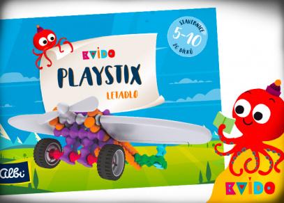 Kvído Playstix letadlo - stavebnice od Albi