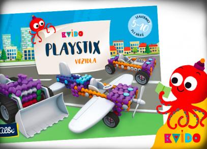 Stavebnice Playstix Vozidla z edice Kvído