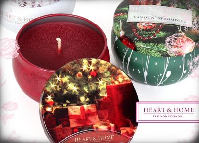 Heart & Home svíčky v plechové krabičce